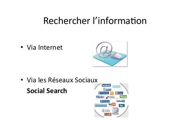 Rechercher l'information Internet versus Réseaux Sociaux (PDF) Slide 2