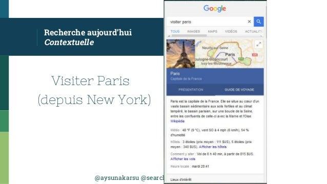 @aysunakarsu @searchdatalogy #QueDuWeb Recherche aujourd'hui Contextuelle Visiter Paris (depuis New York)