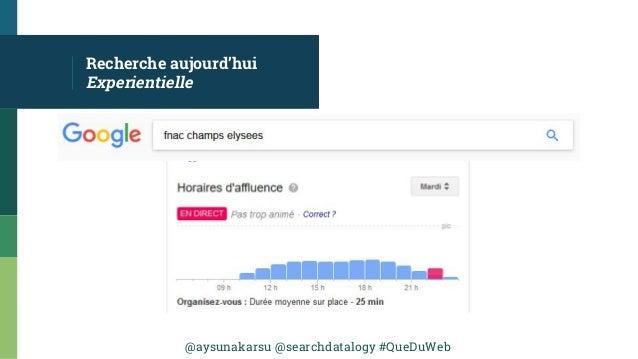 @aysunakarsu @searchdatalogy #QueDuWeb Recherche aujourd'hui Experientielle