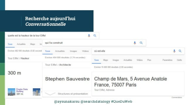 @aysunakarsu @searchdatalogy #QueDuWeb Recherche aujourd'hui Conversationnelle