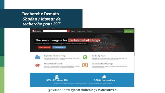 @aysunakarsu @searchdatalogy #QueDuWeb Recherche Demain Shodan / Moteur de recherche pour IOT