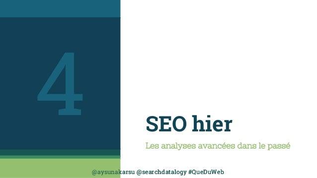 @aysunakarsu @searchdatalogy #QueDuWeb@aysunakarsu @searchdatalogy #QueDuWeb SEO hier Les analyses avancées dans le passé 4
