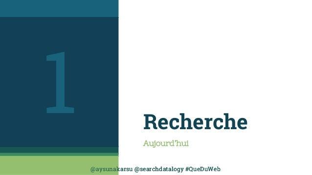 @aysunakarsu @searchdatalogy #QueDuWeb@aysunakarsu @searchdatalogy #QueDuWeb Recherche Aujourd'hui 1