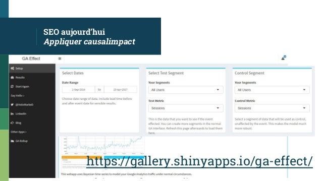 @aysunakarsu @searchdatalogy #QueDuWeb SEO aujourd'hui Appliquer causalimpact https://gallery.shinyapps.io/ga-effect/