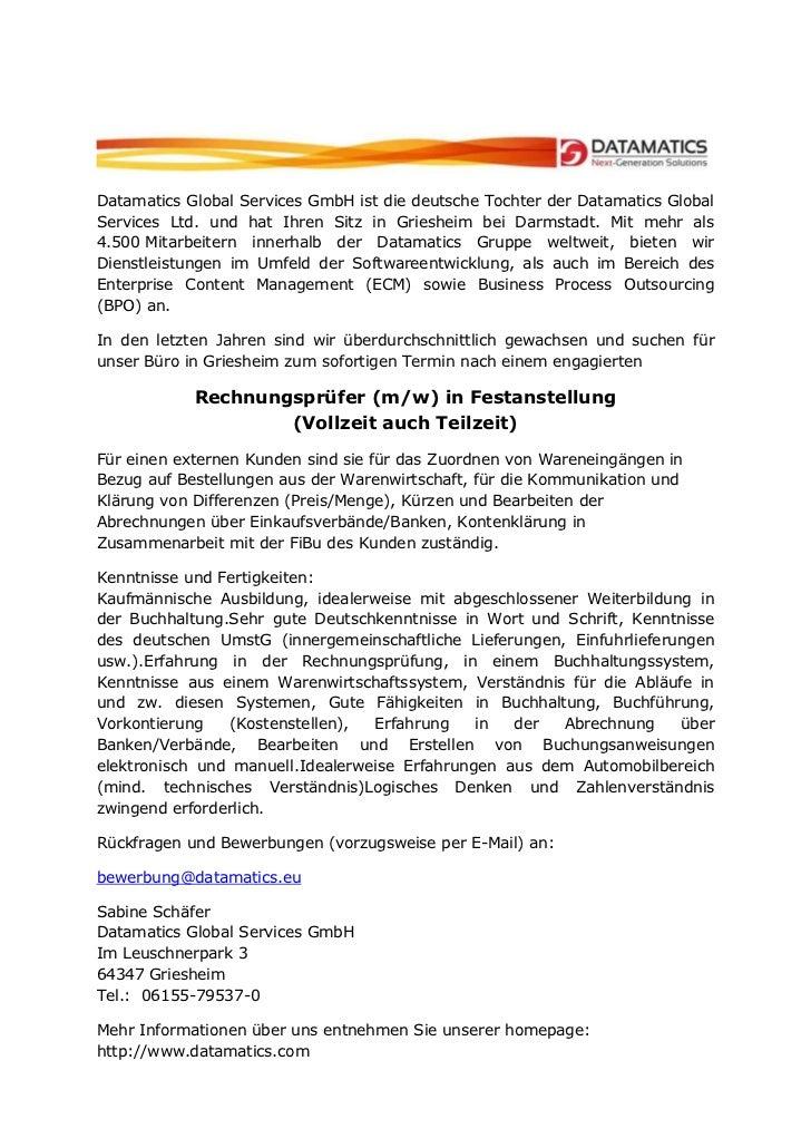Datamatics Global Services GmbH ist die deutsche Tochter der Datamatics GlobalServices Ltd. und hat Ihren Sitz in Grieshei...