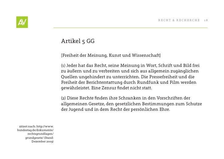 RecHt & RecHeRcHe       18                                  Artikel 5 GG                               [Freiheit der Meinu...
