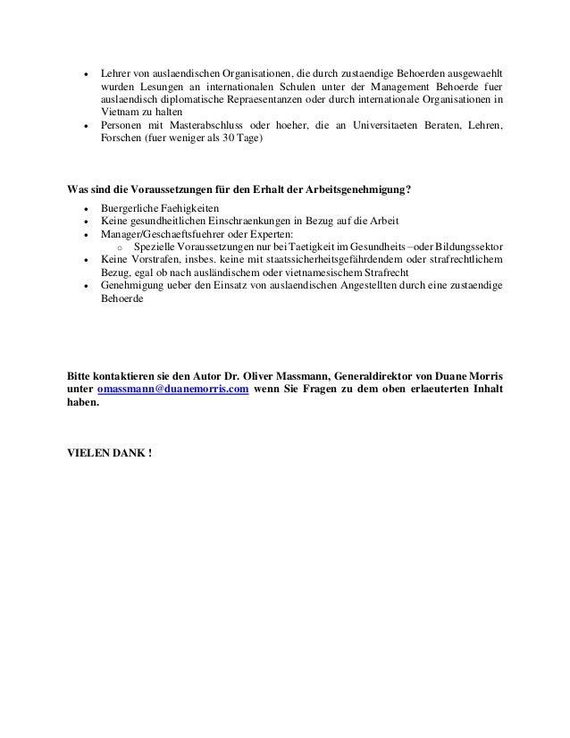 Rechtsanwalt In Vietnam Dr Oliver Massmann Arbeitsrecht