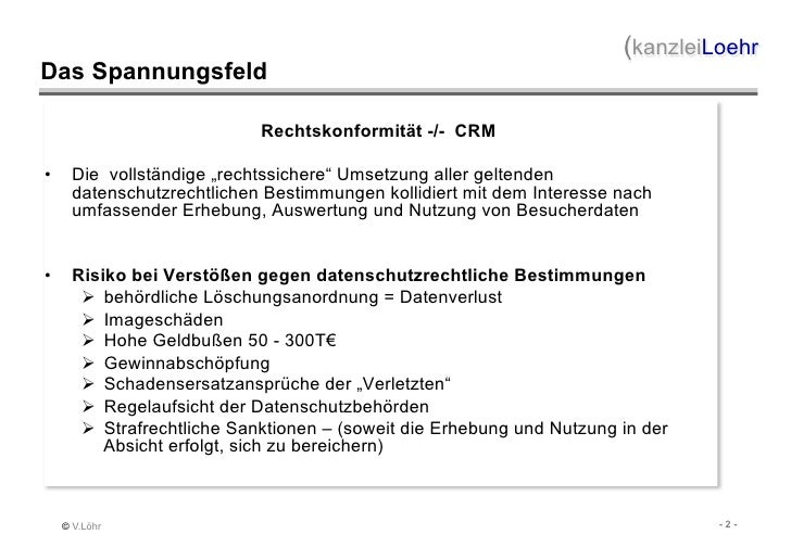 IMEX 2011: Vortrag von Volker Löhr: Rechtsfallen im Datenschutz bei Veranstaltungen Slide 2
