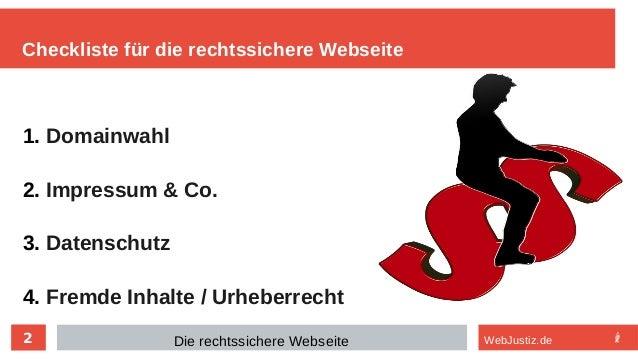 Die rechtssichere Website Slide 2