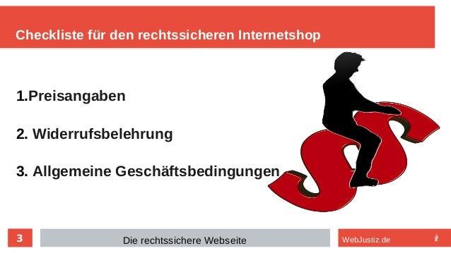 Die rechtssichere Website Slide 3