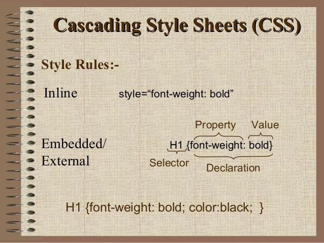 cascading style sheets Cascading style sheets (css) provide a flexible way to add style to the pages of  your website this collection of formatting rules governs the appearance of your.