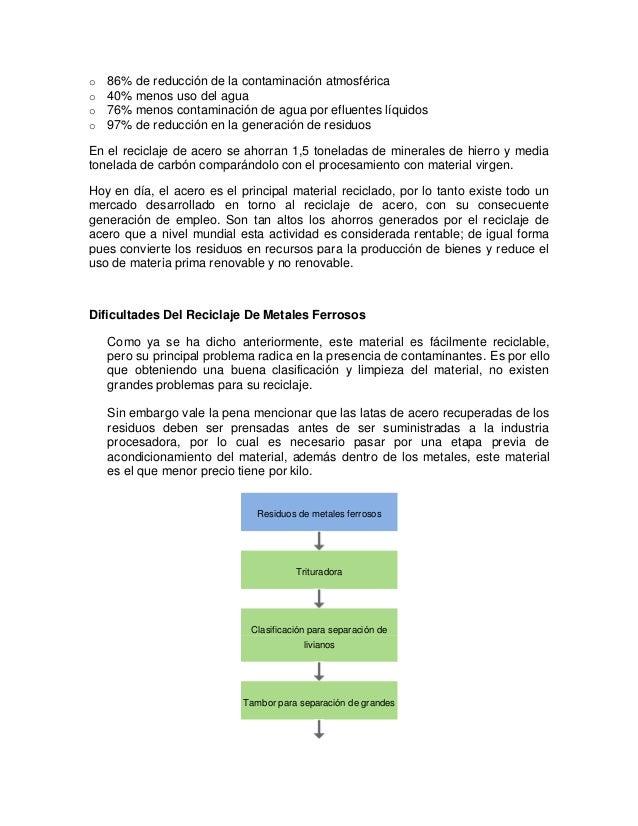 Reciclado o recuperaci n de metales y compuestos met licos - Normativa detectores de metales ...