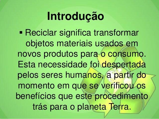 Reciclagem Slide 2