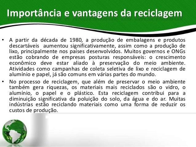 Especialidade Reciclagem e sustentabilidade  Slide 3