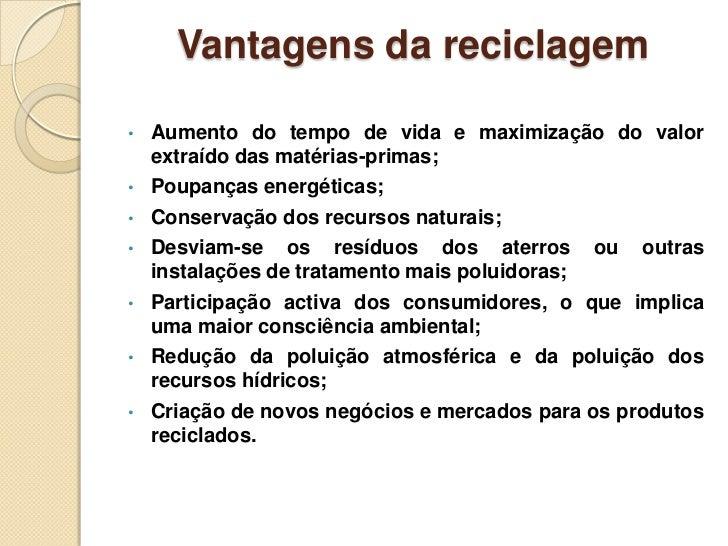 Trabalho de Grupo sobre a Reciclagem Slide 3