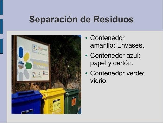 Recogida de residuos ● vidrio: 109921 ● papel: 290398 ● Plástico: 12863 Vidrio Papel Plastico 0 50000 100000 150000 200000...