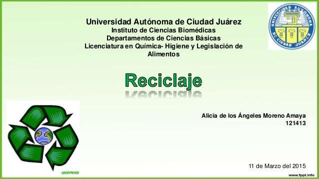 Universidad Autónoma de Ciudad Juárez Instituto de Ciencias Biomédicas Departamentos de Ciencias Básicas Licenciatura en Q...
