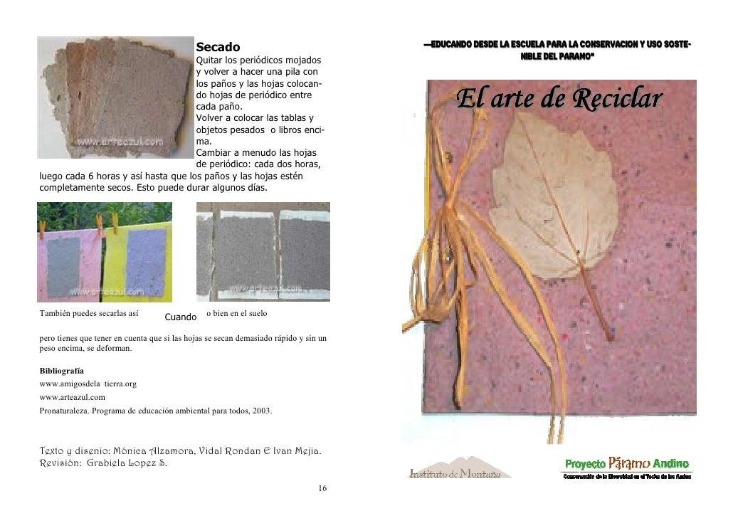 """Secado                                   """"Educando desde la Escuela para la Conservación y uso soste-                     ..."""