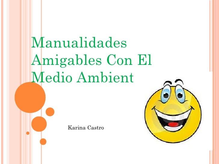 ManualidadesAmigables Con ElMedio Ambiente    Karina Castro