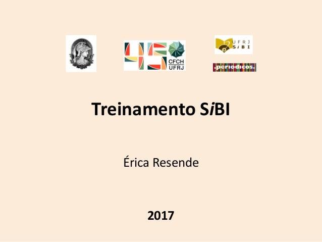 Treinamento SiBI Érica Resende 2017