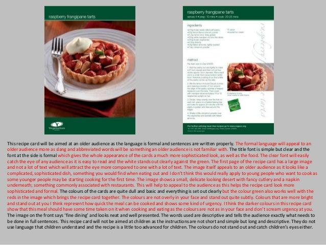 Recipe card design research