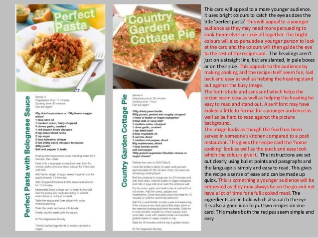 recipe card design