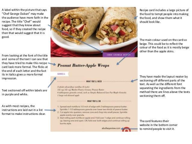 recipe card format