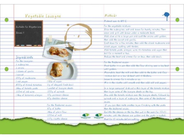 Finished Recipe Cards