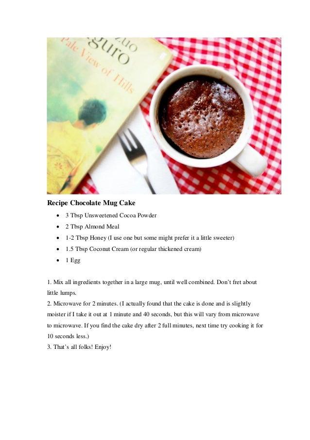 Mug cake recipes chocolate