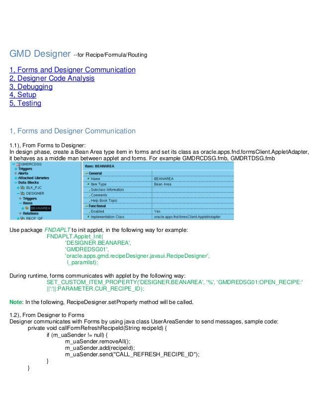 opm recipe designer notes