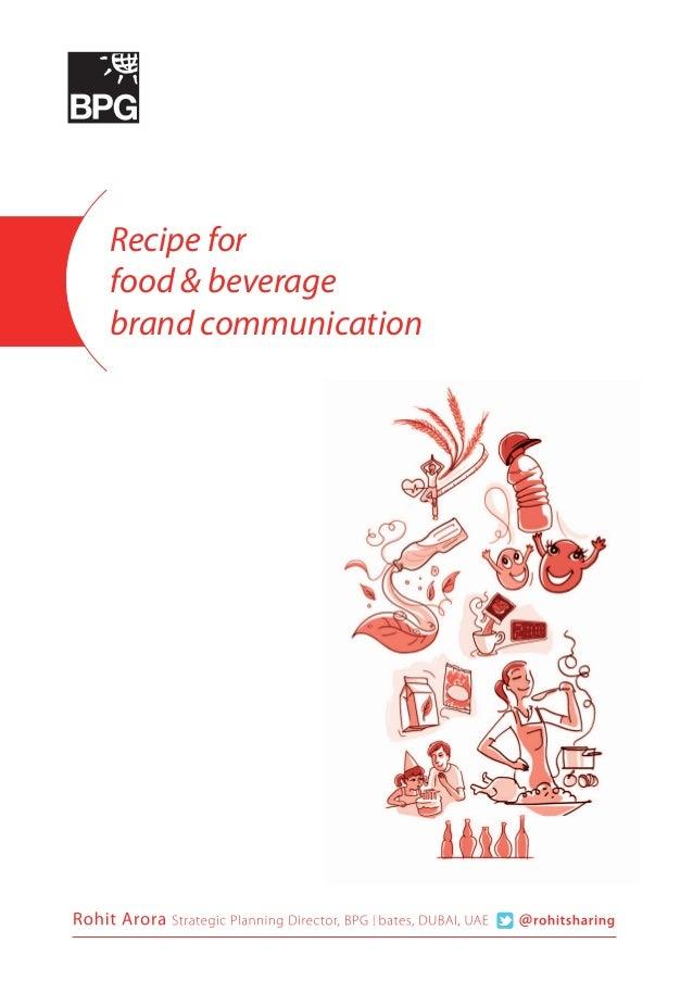 Recipe for food & beverage brand communication