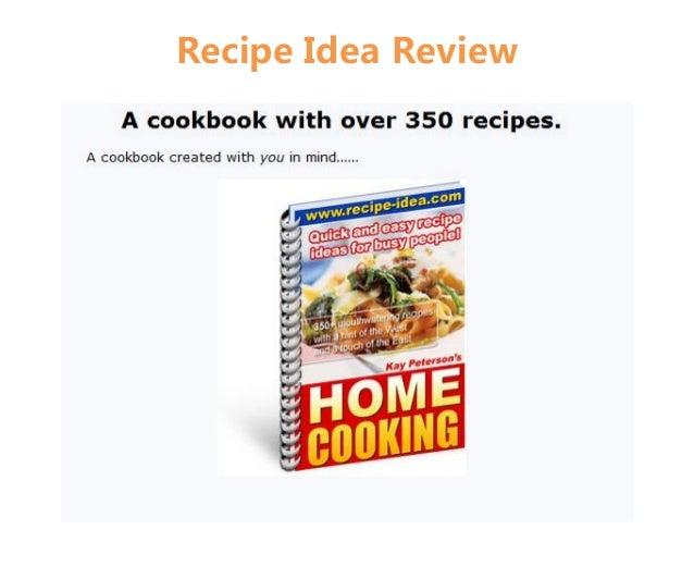 Recipe Idea Review