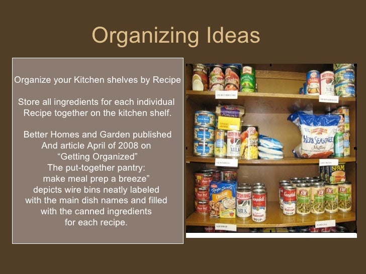 ... 19. Organizing Ideas ... & Recipe Planning u0026 Using Your Food Storage
