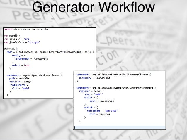 Recipes to build Code Generators for Non-Xtext Models with Xtend