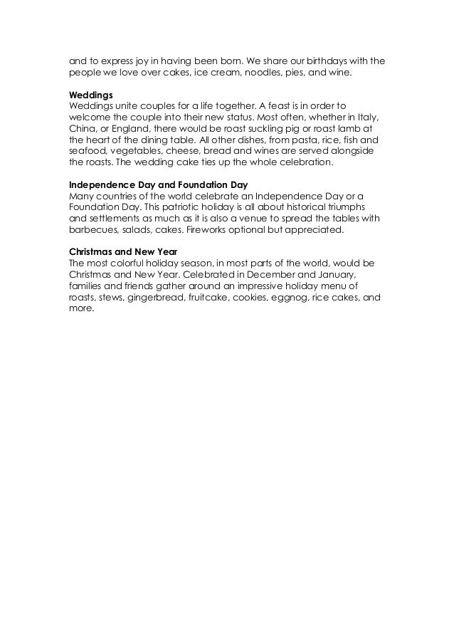 Recipes for holidays and celebrations Slide 2