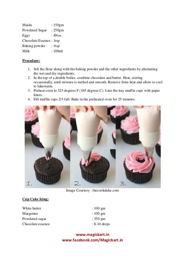 Cake Recipes With Pictures And Procedure