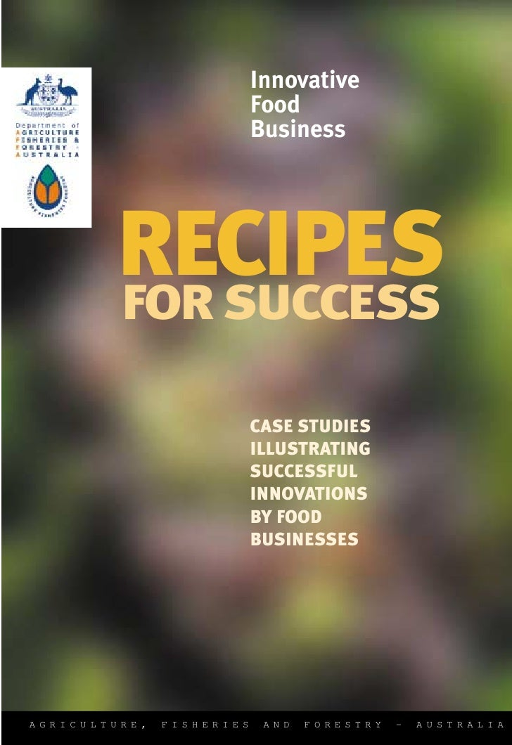 Innovative                            Food                            Business             RECIPES         FOR SUCCESS    ...