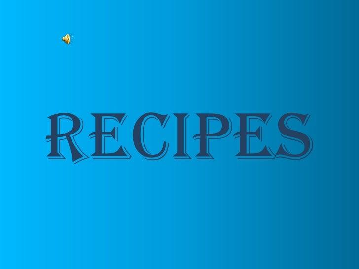 RECipes<br />