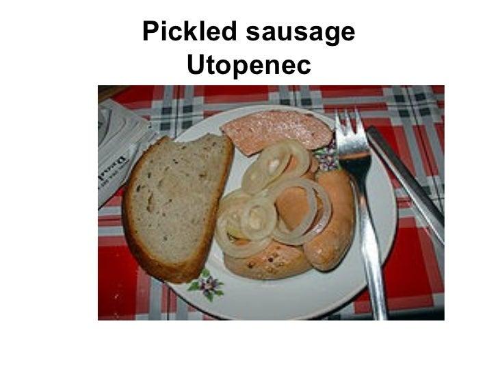 Pickled sausage Utopenec
