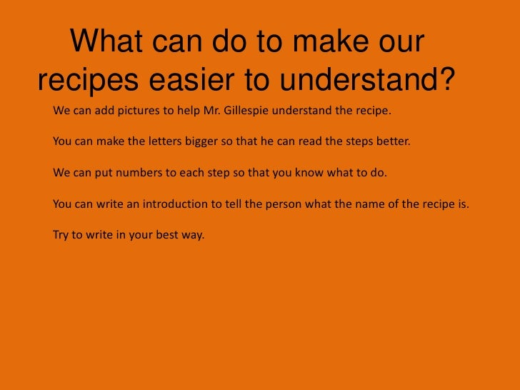 What should we do with the recipes?</li></li></ul><li>Reflecting on our Recipes<br />