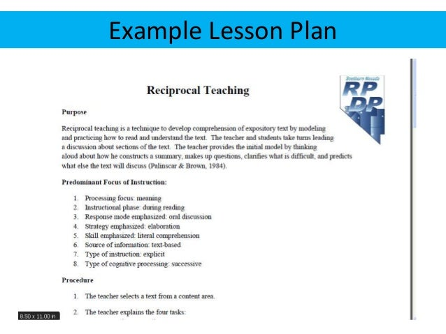 No one best way to begin using reciprocal teaching in your classroom exists. The key is to regularly model and practice th...