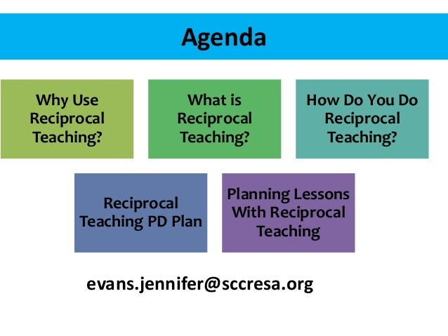 Agenda Why Use Reciprocal Teaching? What is Reciprocal Teaching? How Do You Do Reciprocal Teaching? Reciprocal Teaching PD...