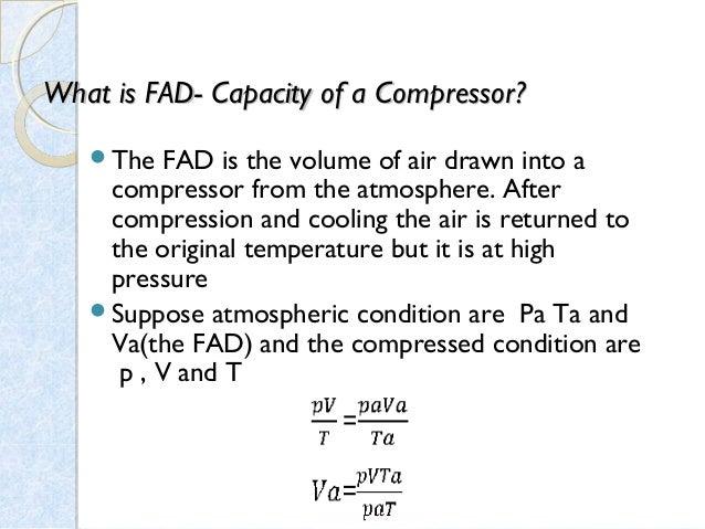 air compressor efficiency calculation pdf
