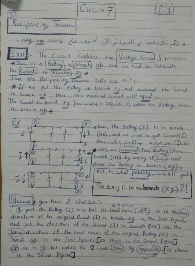 Electric Circuits Class (Handout 8)