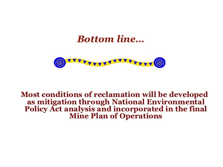 Reclamation Requirements