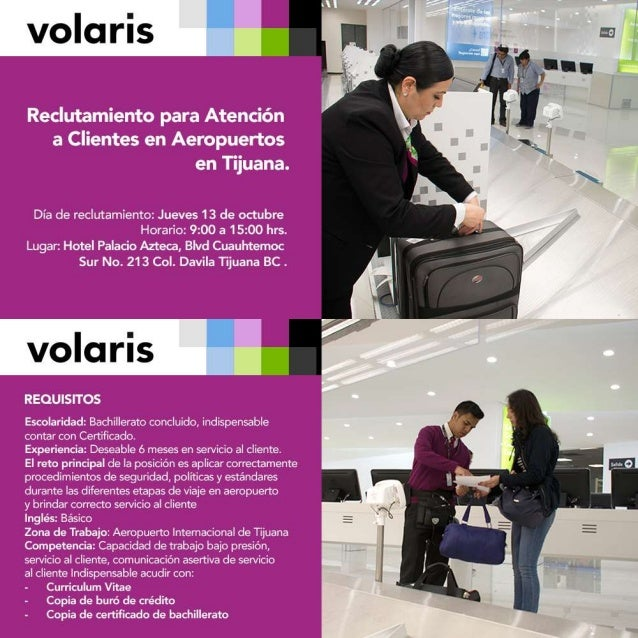 Reclutamiento para Atención a Clientes en Aeropuertos en Tijuana