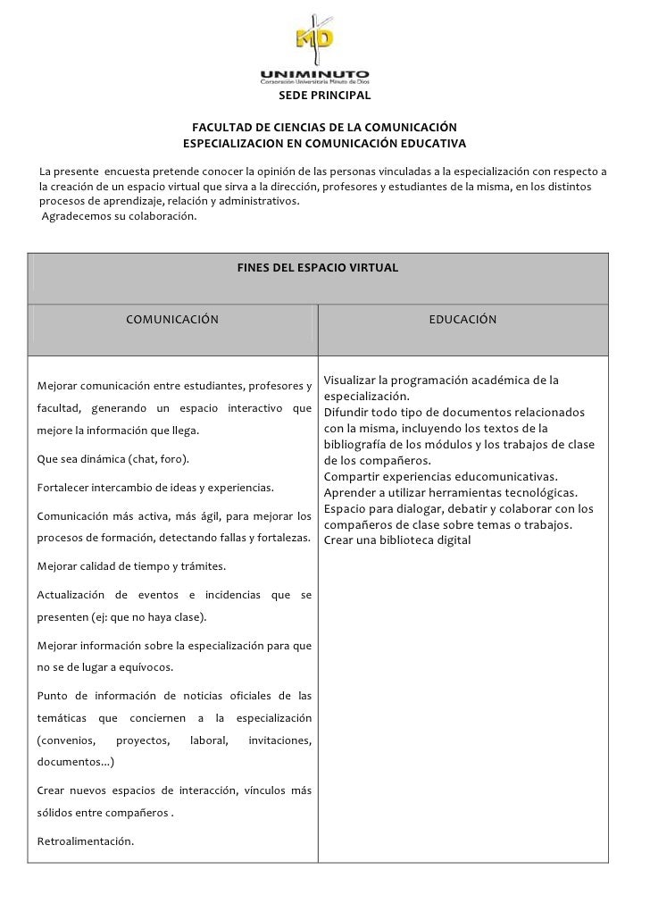 SEDE PRINCIPAL                               FACULTAD DE CIENCIAS DE LA COMUNICACIÓN                              ESPECIAL...