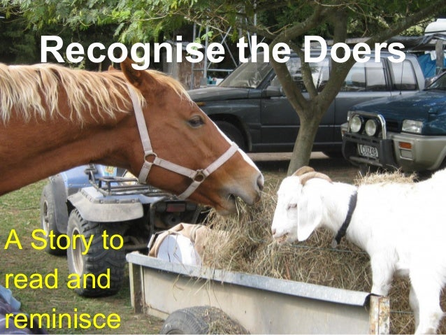 Recognise the Doers A Story to read and reminisce