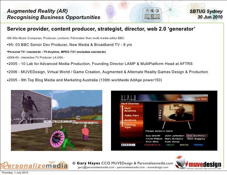 Augmented Reality (AR)                                                                                               SBTUG...