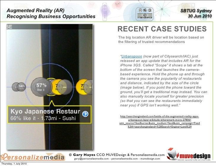 Augmented Reality (AR)                                                                                      SBTUG Sydney  ...